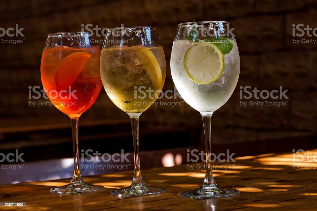 Classic cocktails stock photo