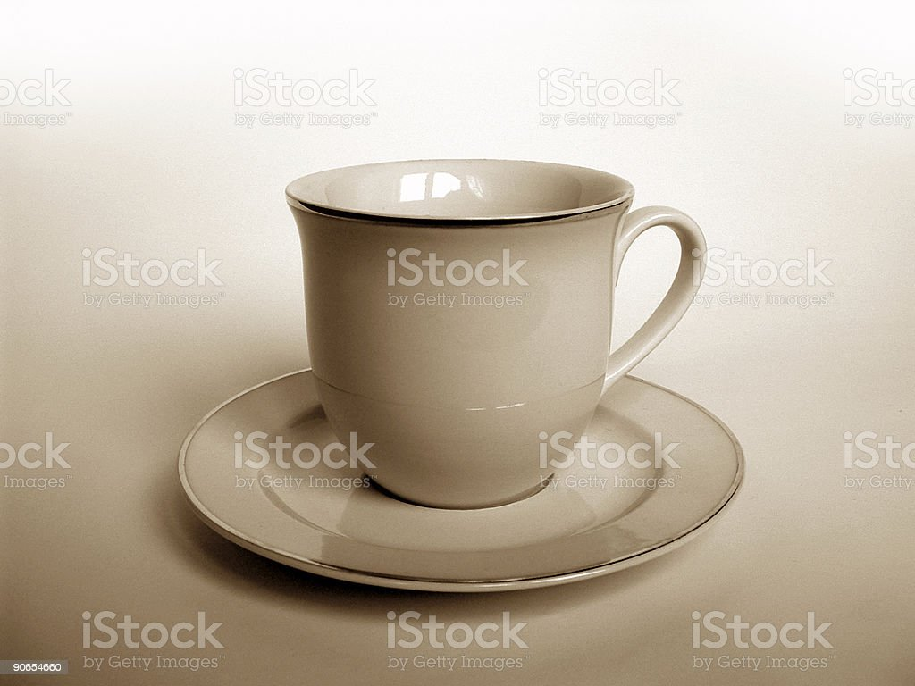 Classic coffee cup royalty-free stock photo