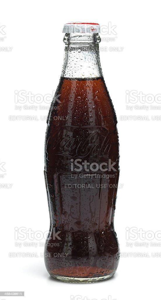 Classic Cola bottle stock photo