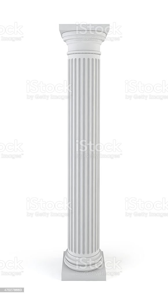 Classic column royalty-free stock photo