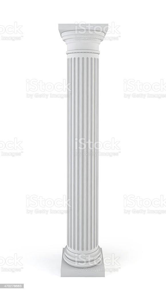 Classic column stock photo