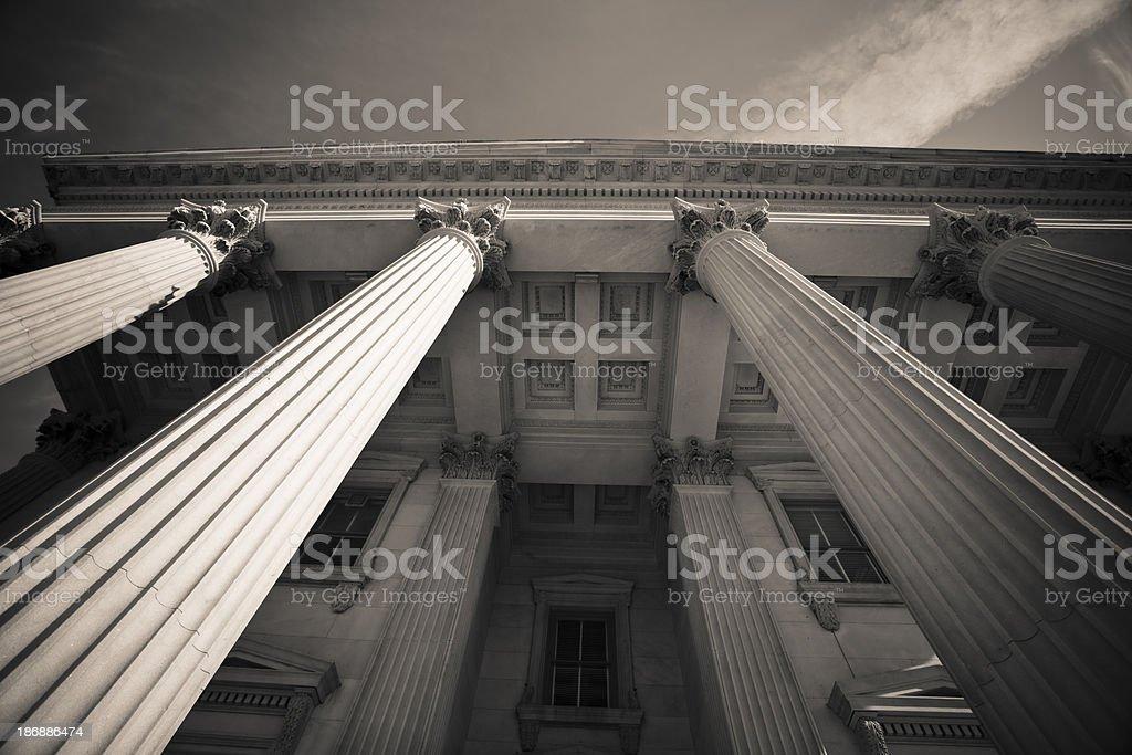 Classic columns stock photo
