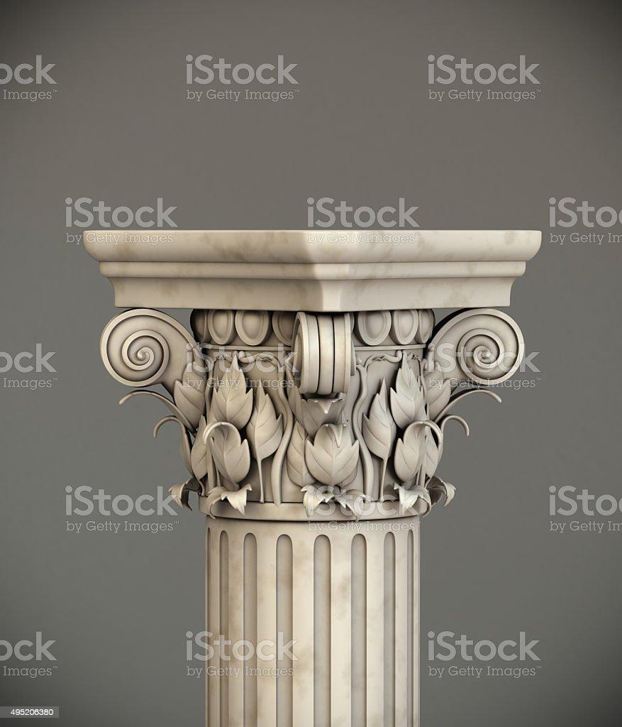 Classic Corinthian Column stock photo