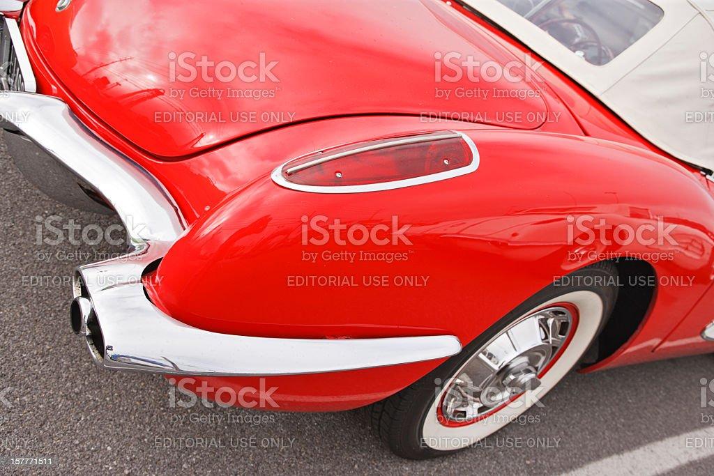 Classic Corvette royalty-free stock photo