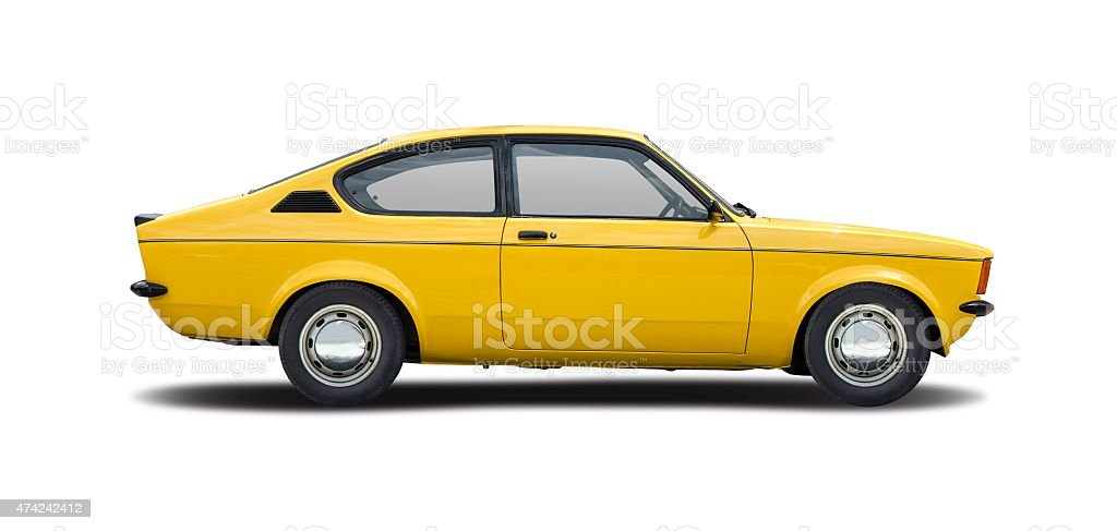 Classic coupe car stock photo