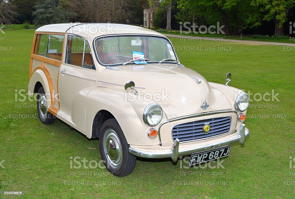 Classic Cream Morris  Traveller motor car stock photo