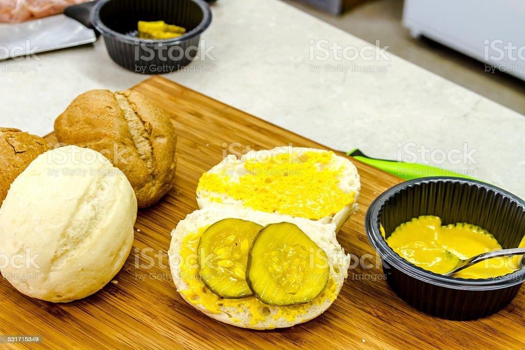 Classic Cuban Medianoche Sandwiches stock photo