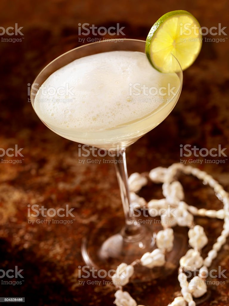 Classic Daiquiri with Lime stock photo