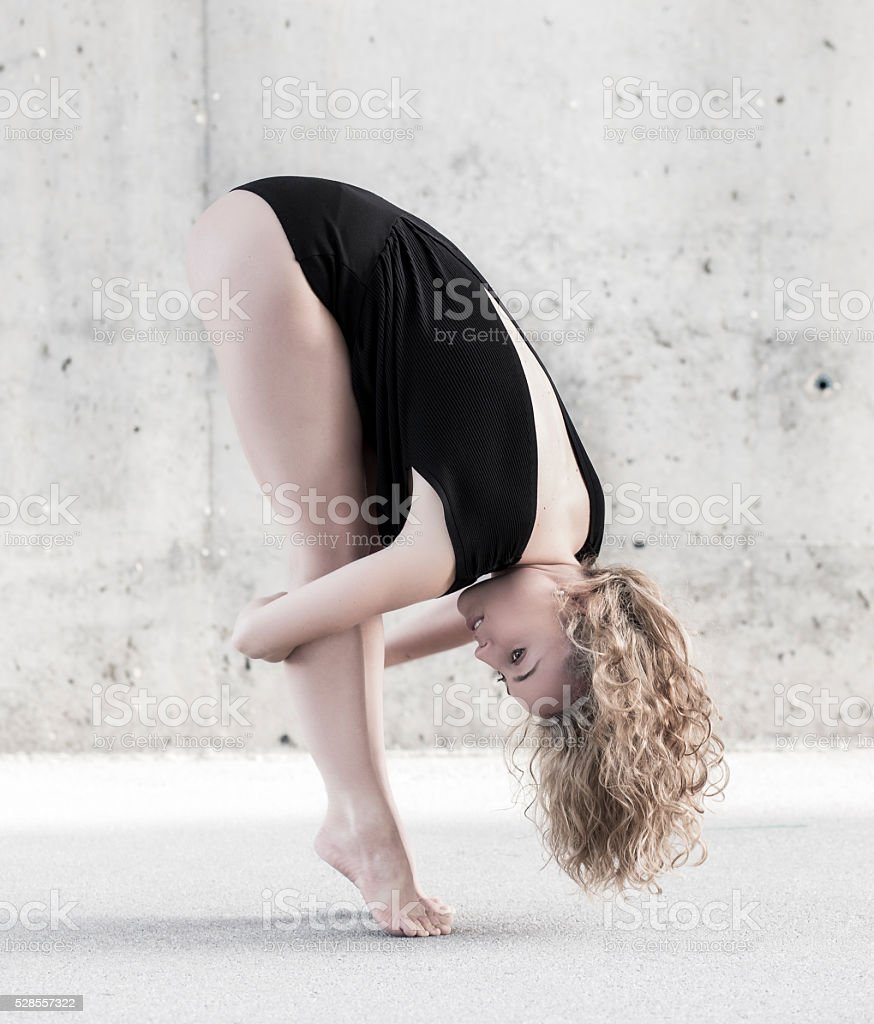 Classic dancer standing on her toes stock photo