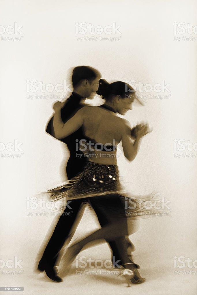 Classic Dancers (Hi Resolution) royalty-free stock photo