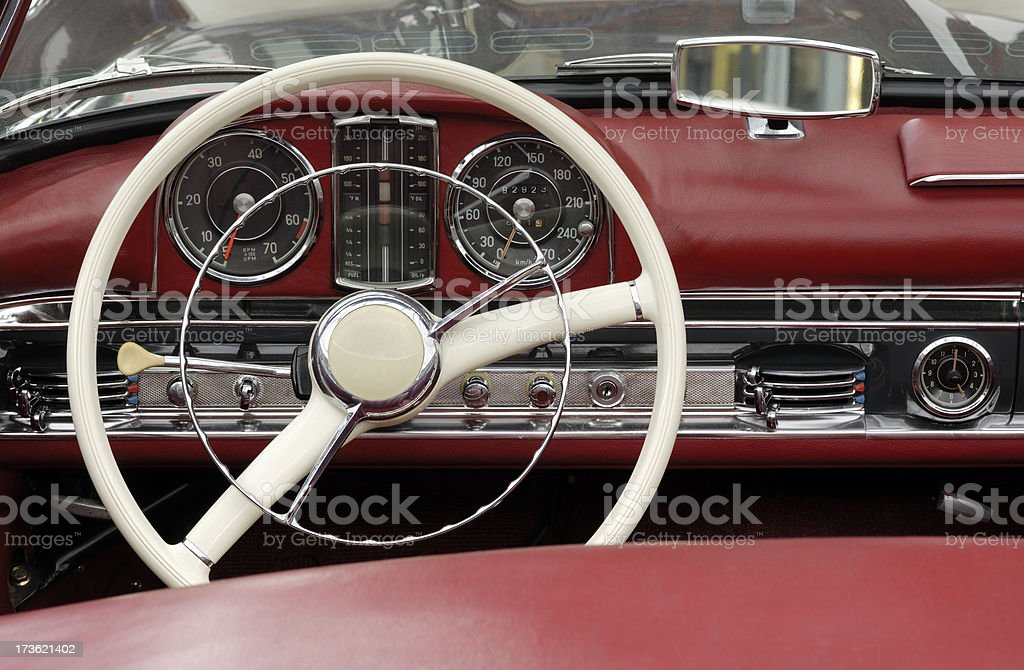 Classic dashboard royalty-free stock photo