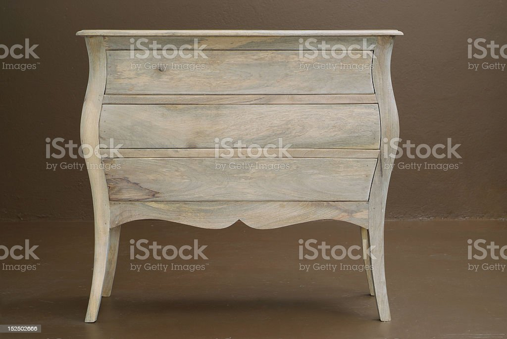A classic design wooden dresser royalty-free stock photo