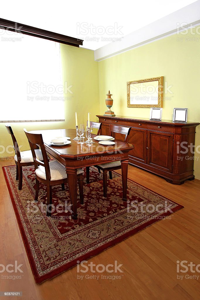 Classic dining room royalty-free stock photo