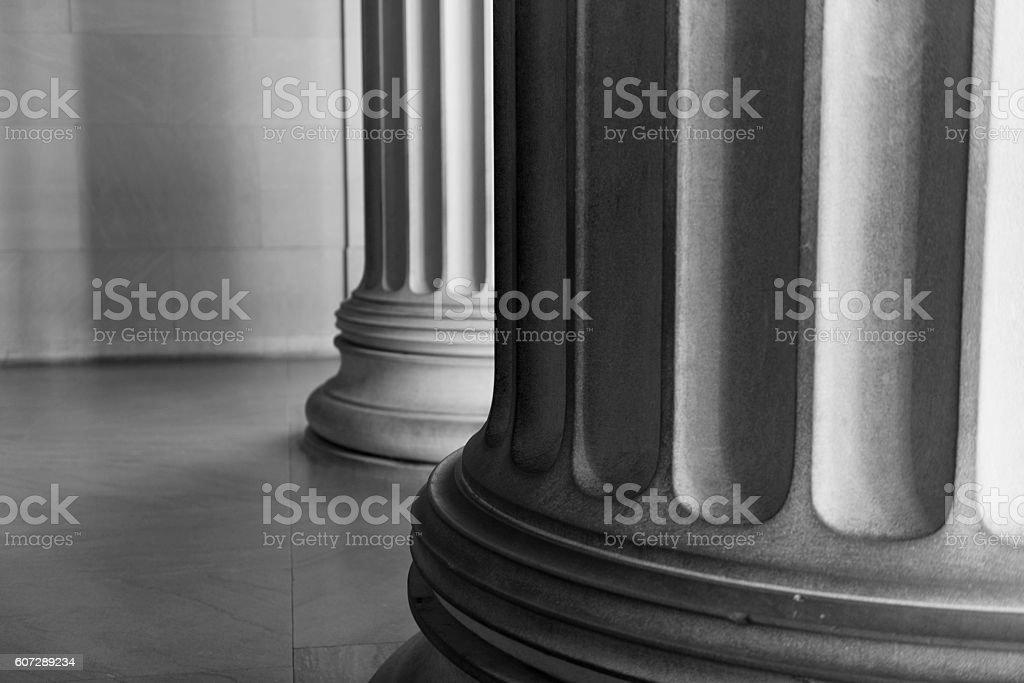 Classic Doric Columns of Lincoln Memorial Iconic Washington DC Landmark stock photo