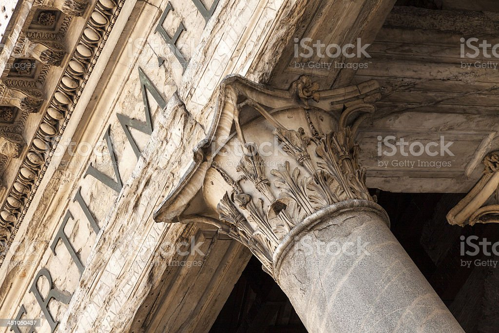 Classic doric style column royalty-free stock photo