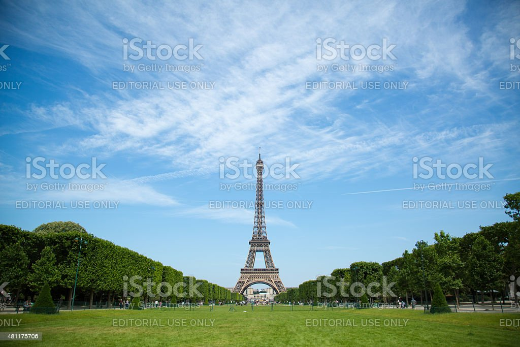 Classic Eiffel Tower Midday stock photo