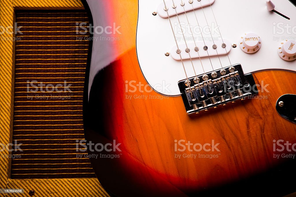 Classic Electric Guitar and Amp Still Life royalty-free stock photo