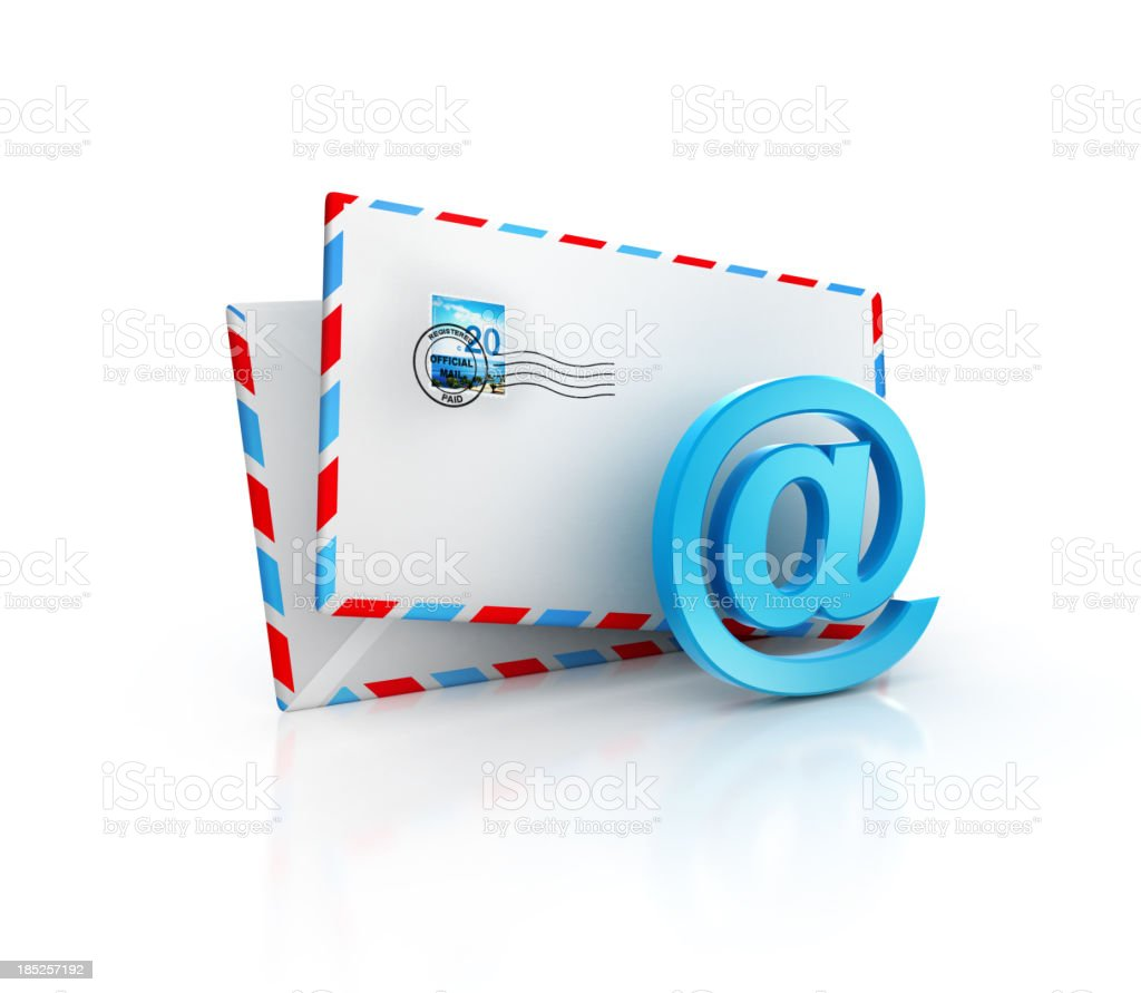 classic email envelope royalty-free stock photo