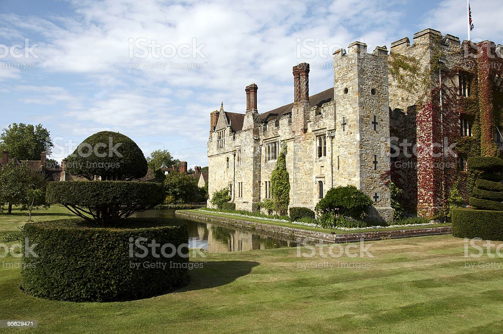 Classic England castle, with magical views stock photo