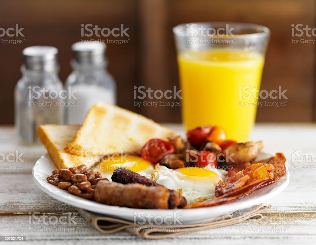 classic english breakfast stock photo
