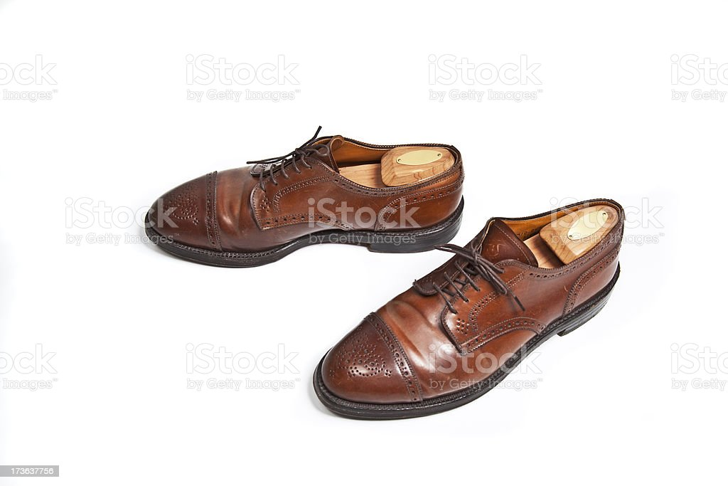 classic english horse leather brogue stock photo