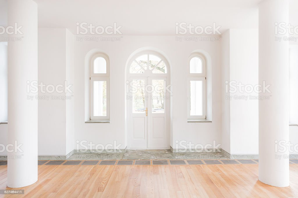 Classic entrance hall stock photo