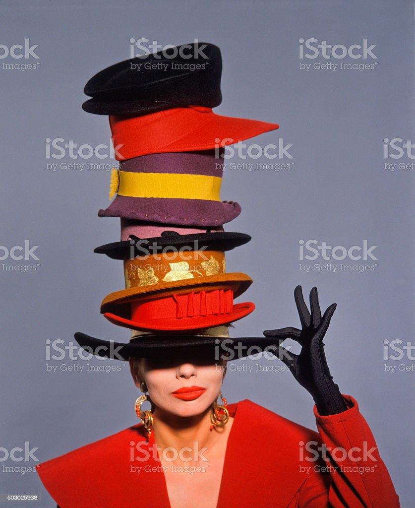 classic fashion shot stock photo