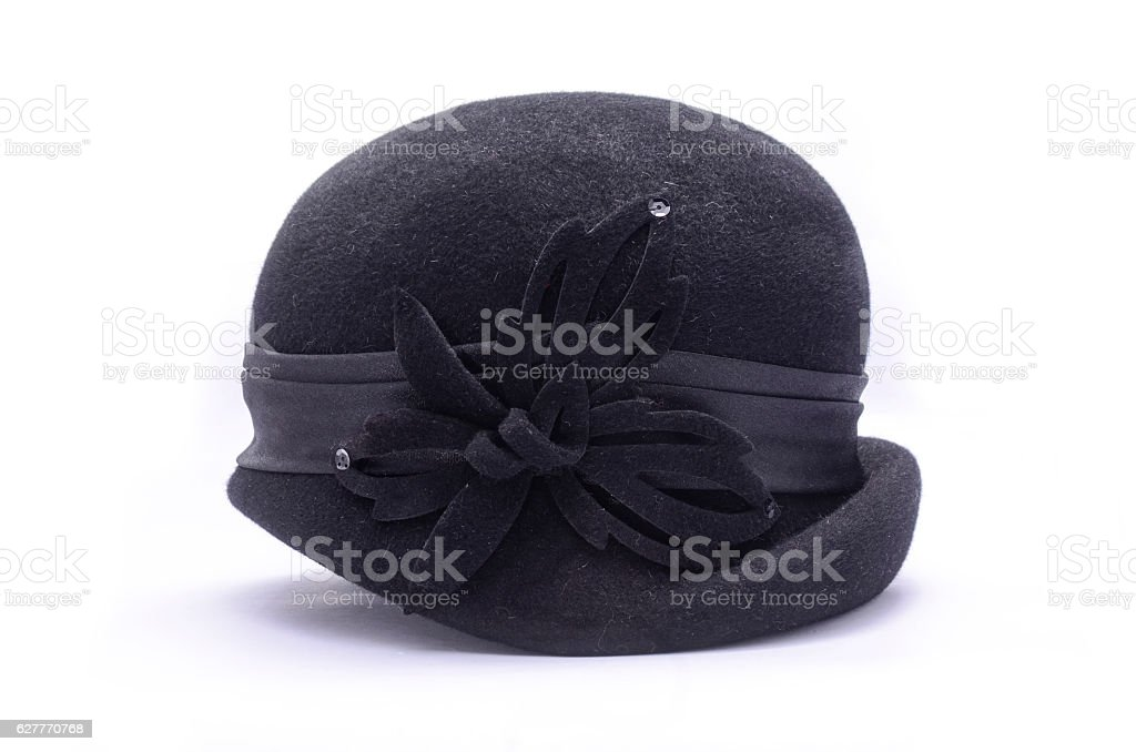 classic female bowler hat isolated on white stock photo