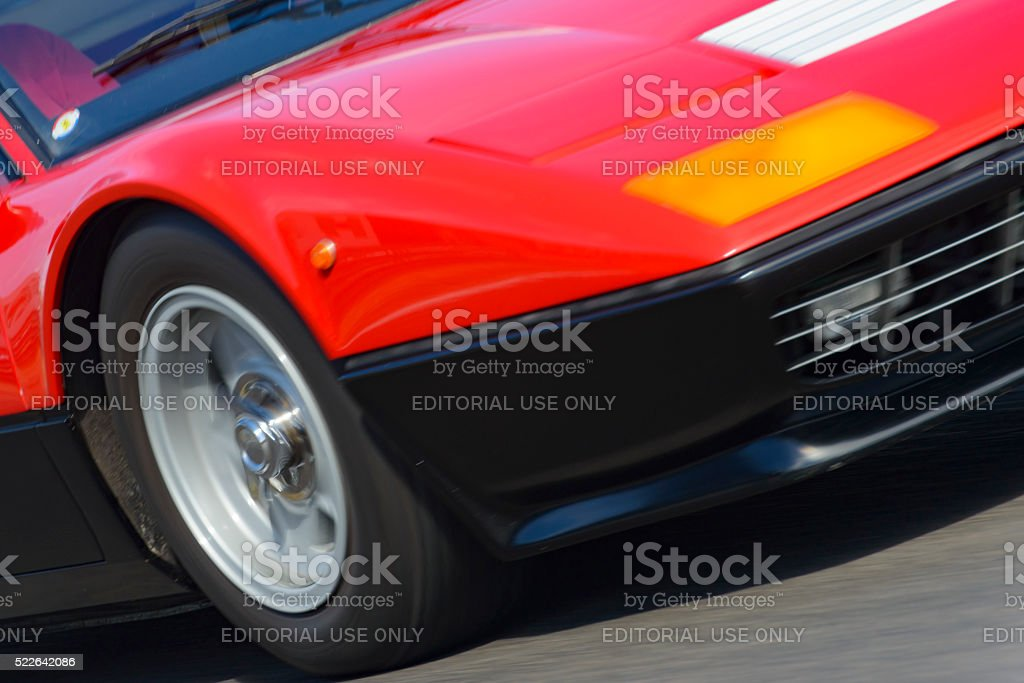 Classic Ferrari 512 Berlinetta Boxer 1970s speed detail stock photo