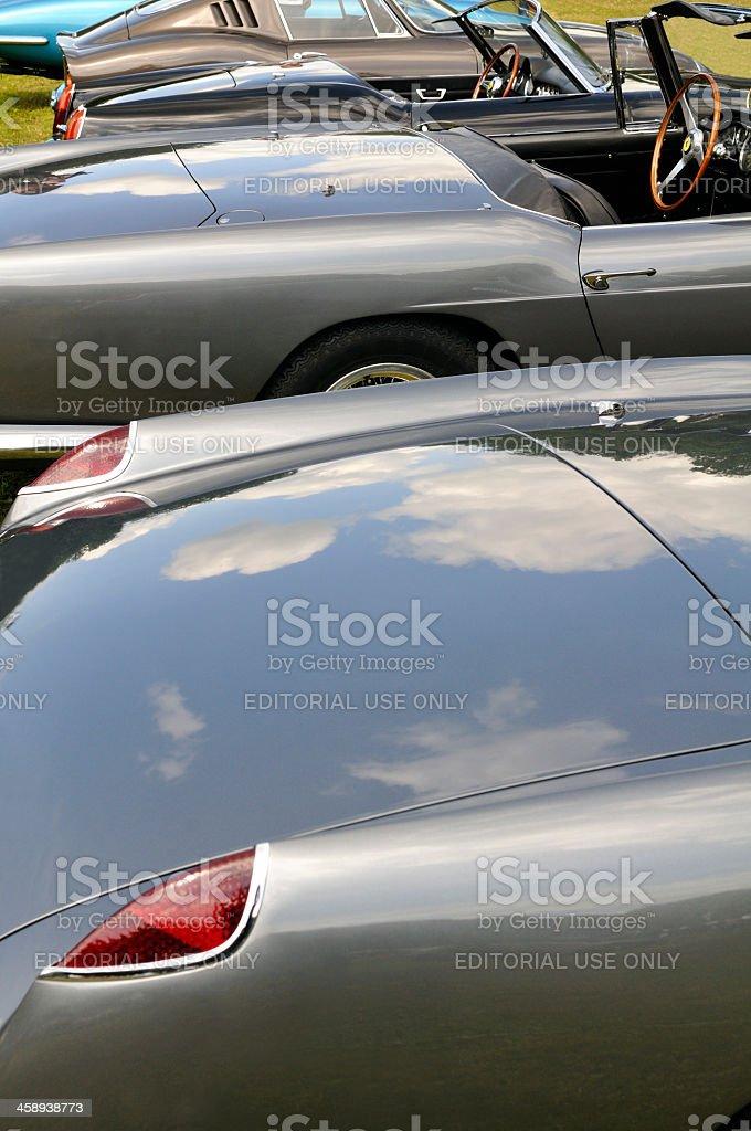 Classic Ferrari line up stock photo