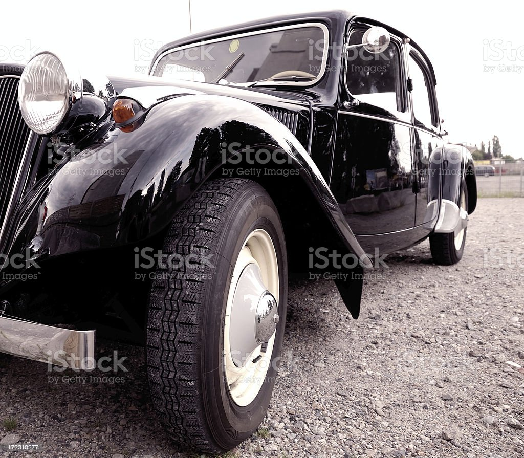 classic film noir gangster car royalty-free stock photo