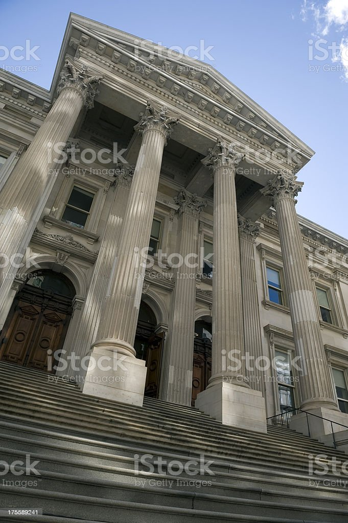 Classic financial columns royalty-free stock photo