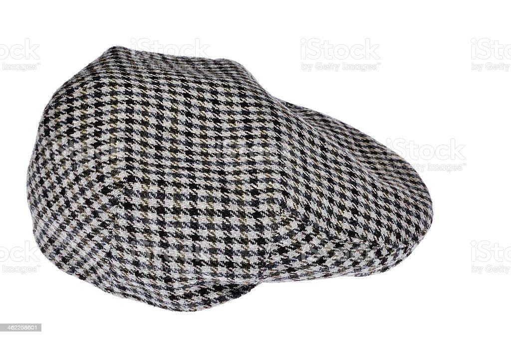 Classic flat cap isolated on white royalty-free stock photo