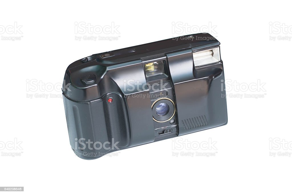 Classic flim camera isolated on a white background stock photo