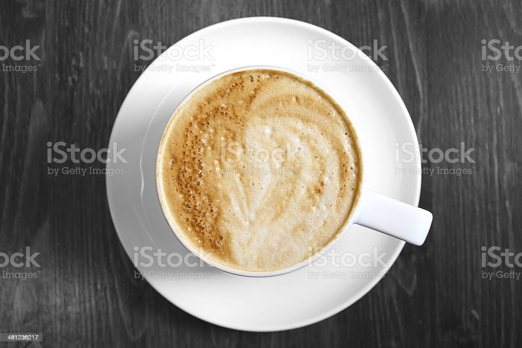 Classic foamy cappuccino stock photo