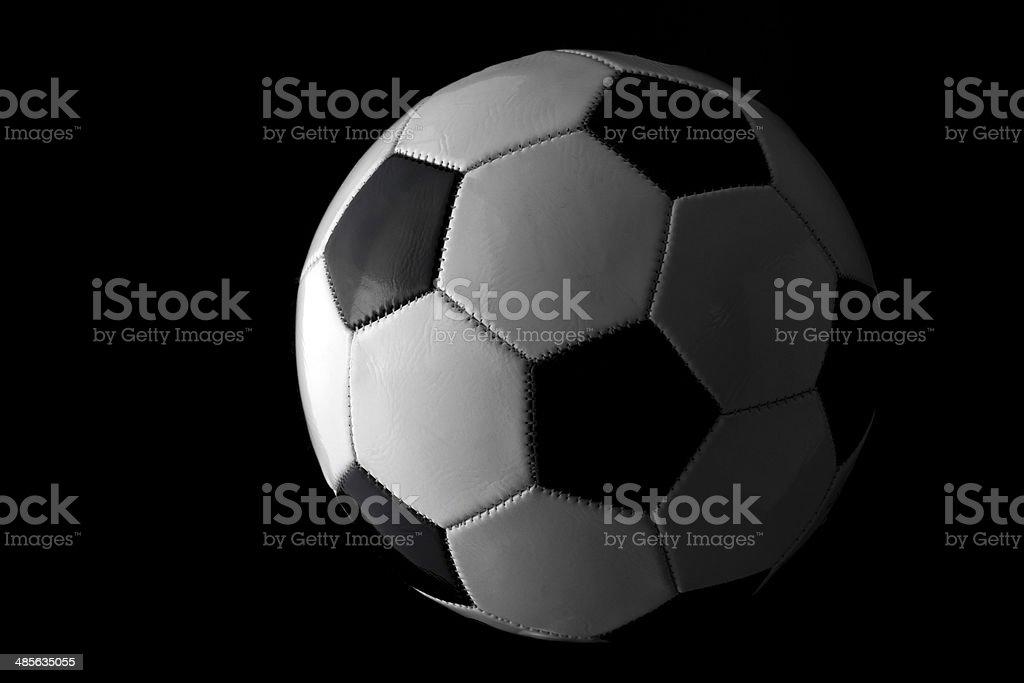 Classic football or soccer ball studio shot royalty-free stock photo