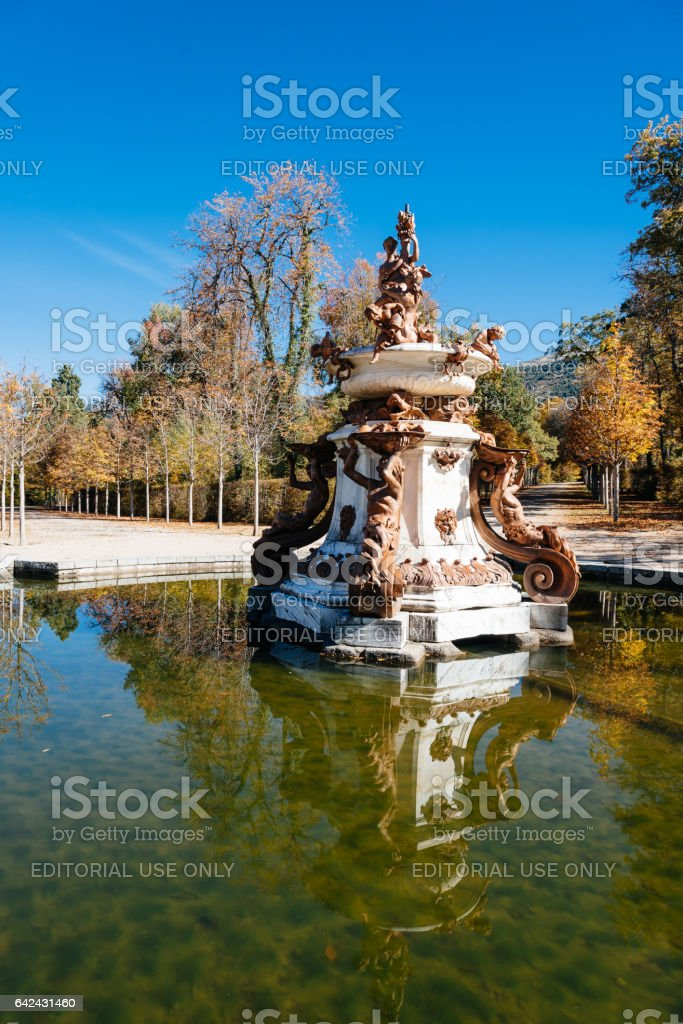 Classic Fountain in Palace stock photo