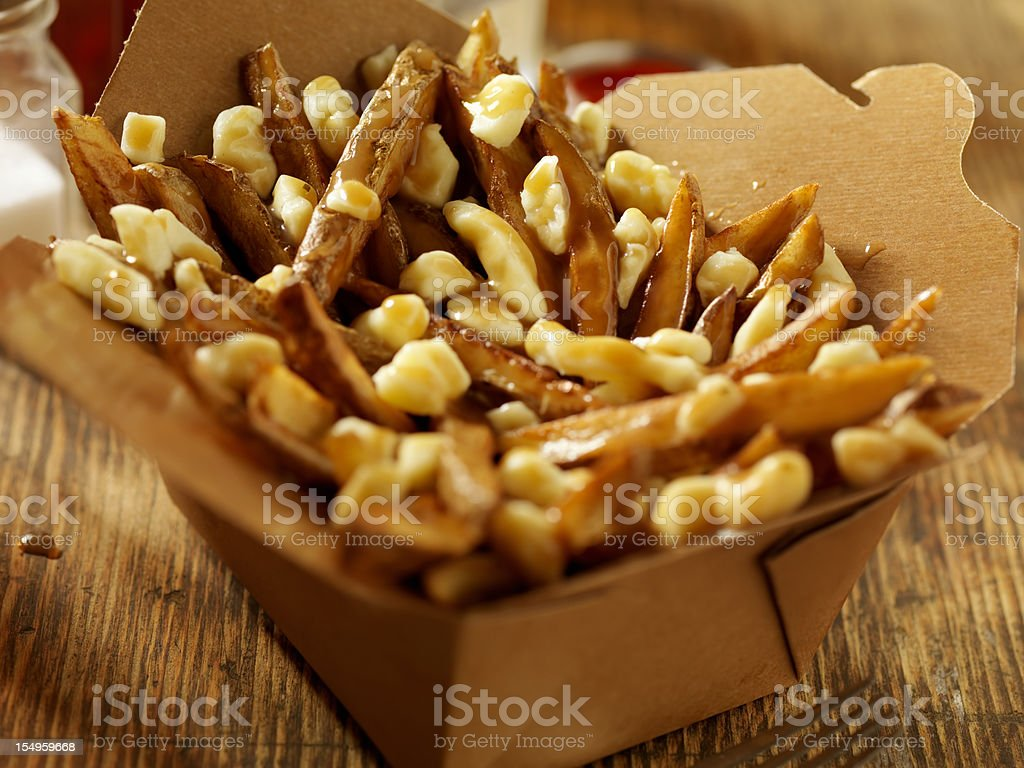 Classic French Canadian Poutine stock photo