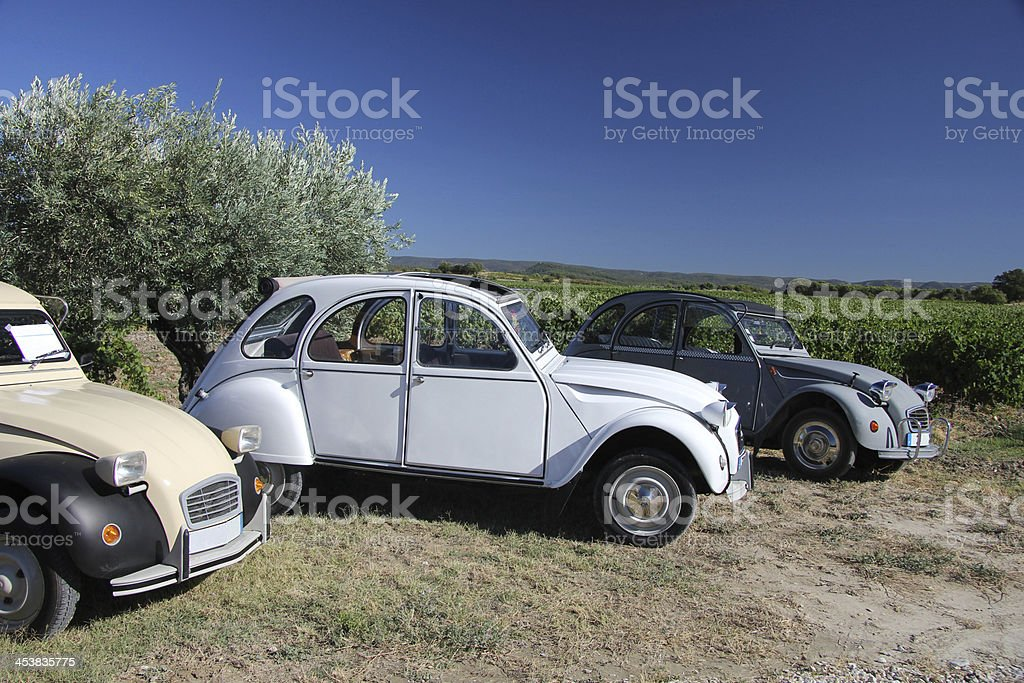 Classic French cars royalty-free stock photo