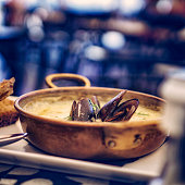 Classic French Mussels Fish Dish