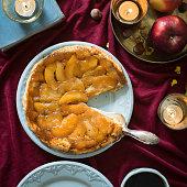 Classic french upside down apple tart Tarte Tatin