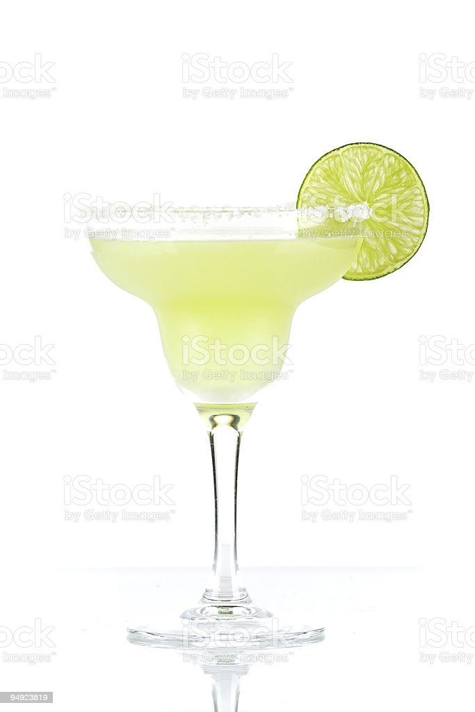 A classic freshly poured lime margarita  stock photo