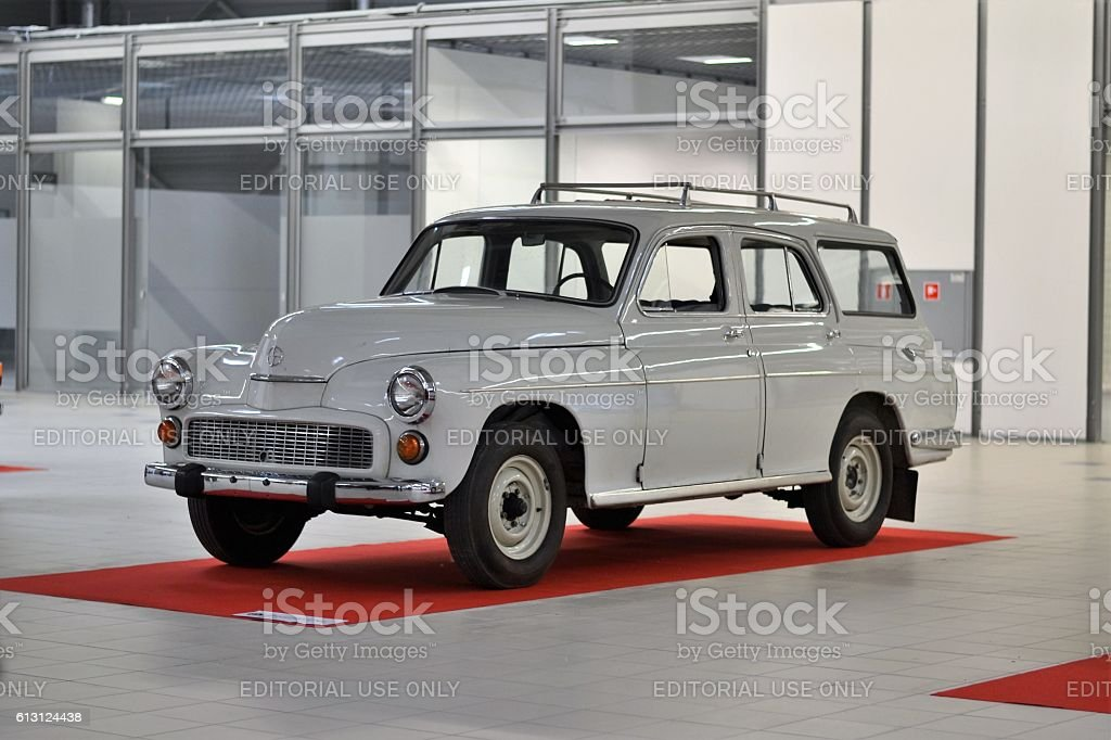 Classic FSO Warszawa on the exposition stock photo