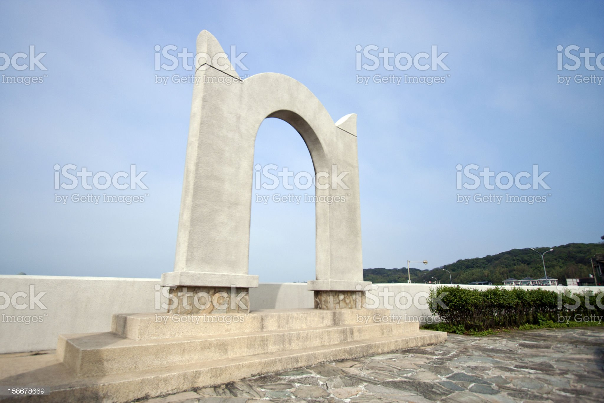 classic gate statue royalty-free stock photo