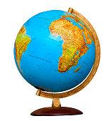 classic globe isolated on white background
