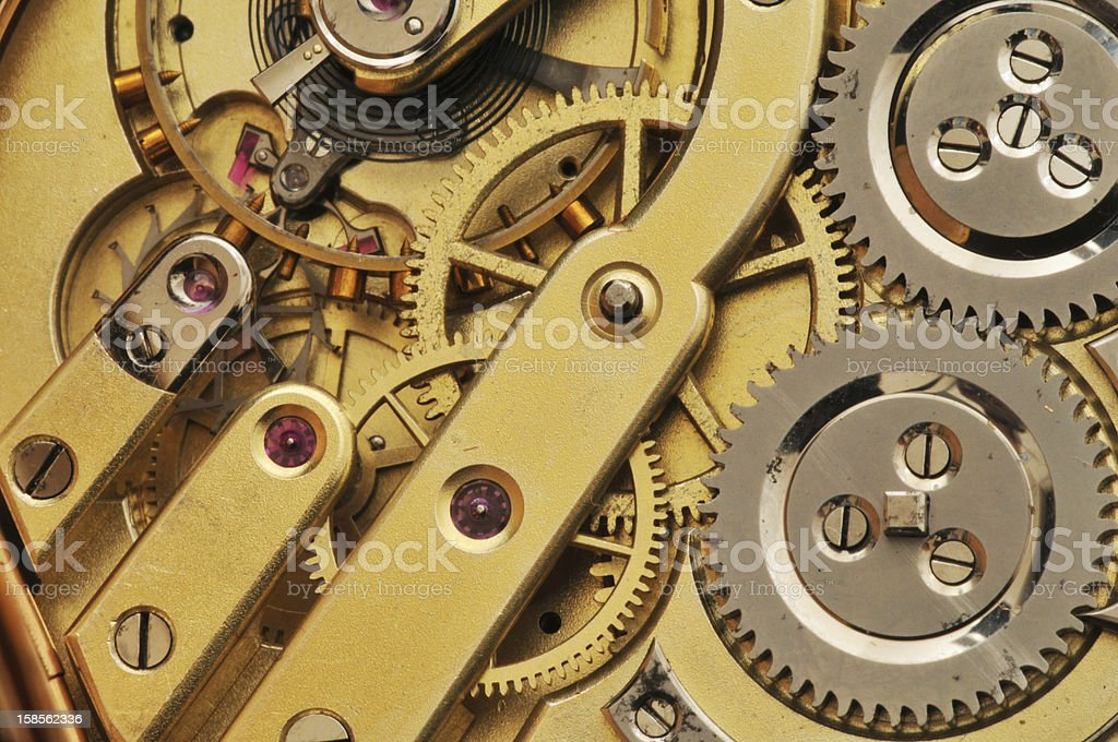 classic golden pocket watch royalty-free stock photo