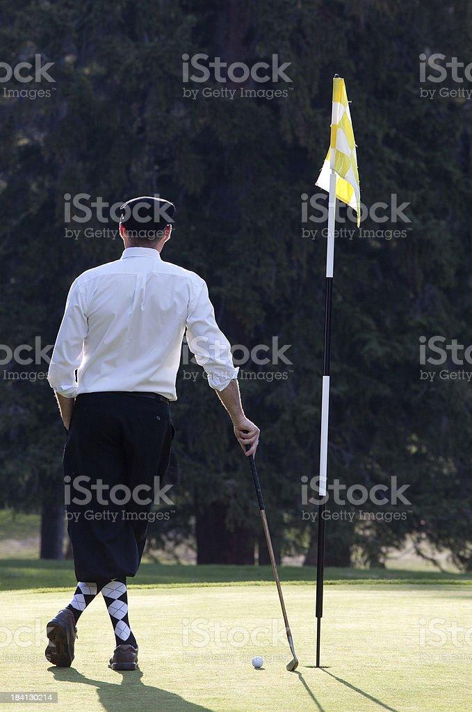 Classic Golfer stock photo