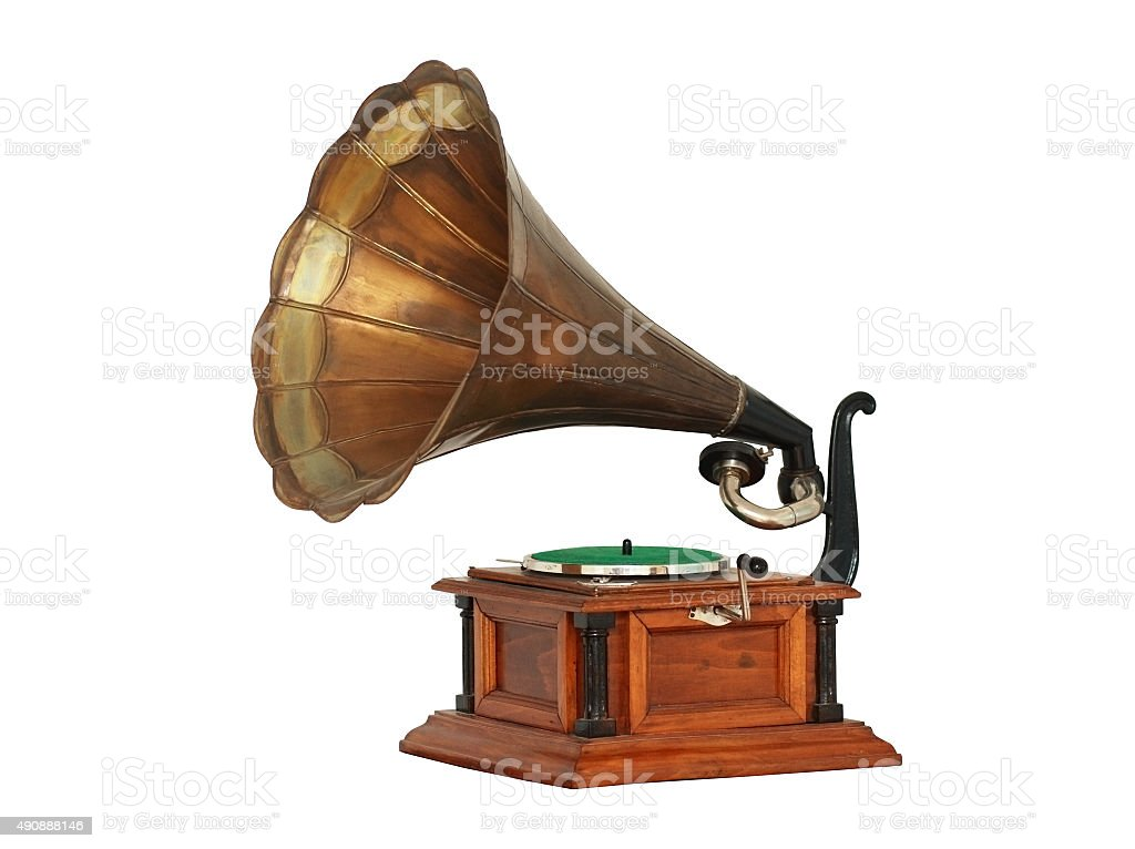 Classic Gramophone stock photo