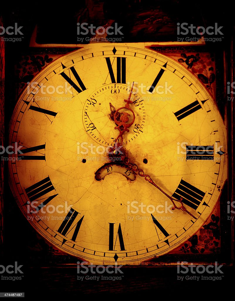 Classic Grandfather Clock face royalty-free stock photo
