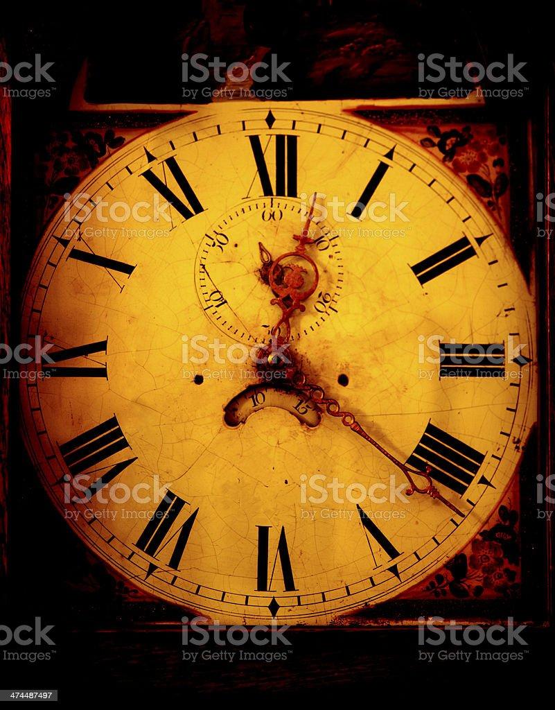 Classico orologio a pendolo viso foto stock royalty-free
